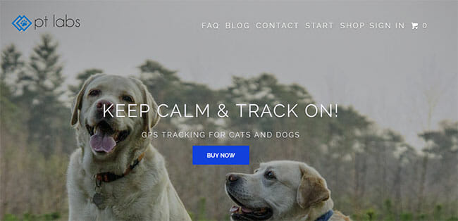 Paw-Tracker homepage