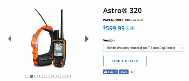 Garmin Astro 320 prices