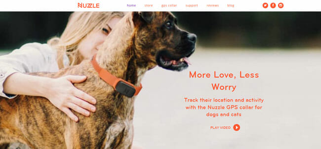 Nuzzle homepage
