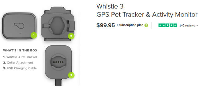 Whistle 3 gps pet price
