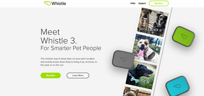 Whistle 3 homepage