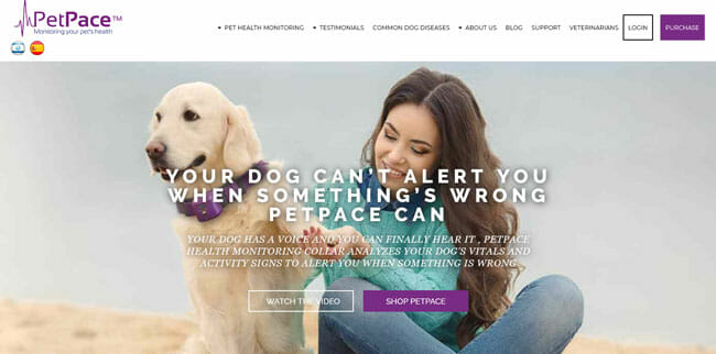 PetPace screenshot homepage