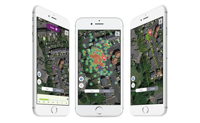 Pawtrack smartphone app