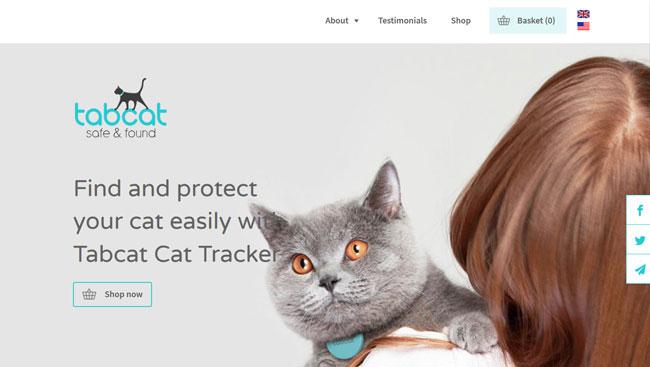 TabCat printscreen homepage