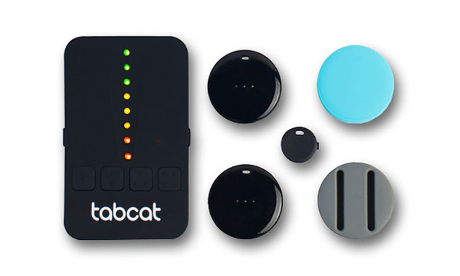 TabCat tracker on white background